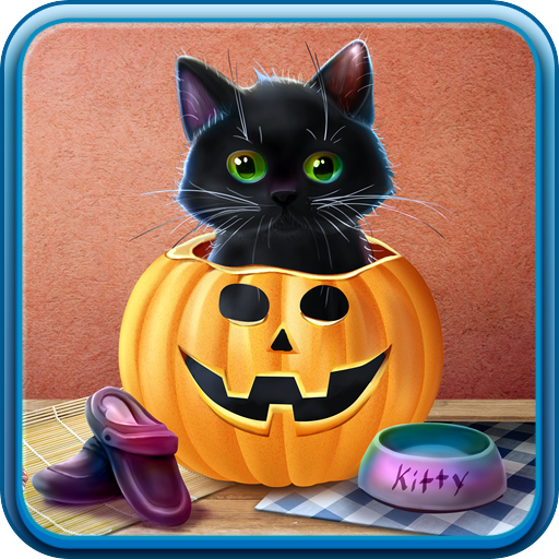 Halloween Live Wallpaper (Kitten on Halloween Live)