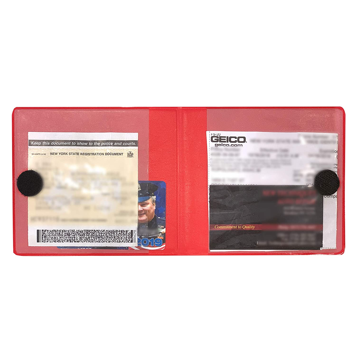 Car Insurance and Registration Card Holders Premium Wallets for Essential Automobile Documents Black 3 Pack