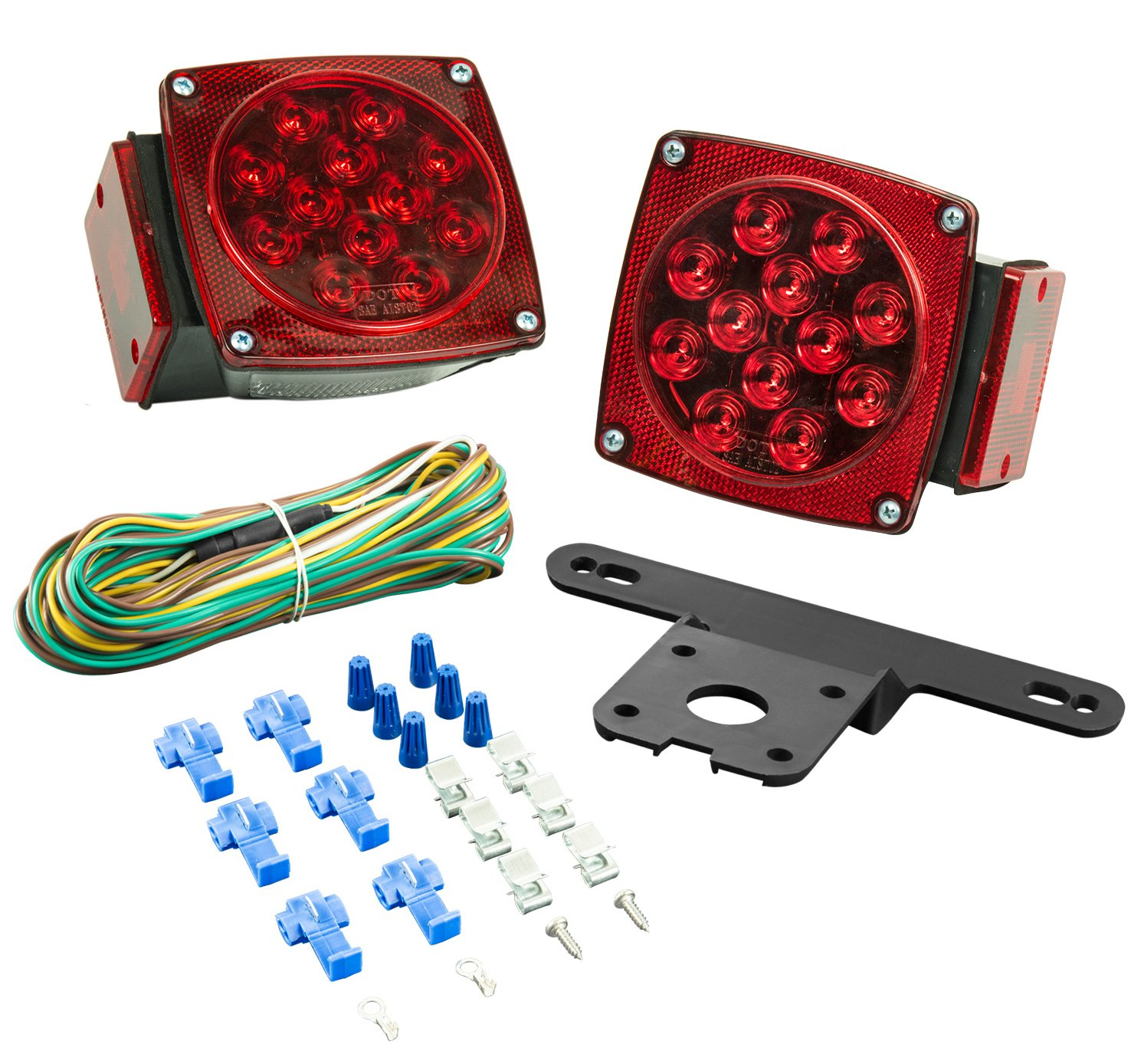 Lighting Technologies LT543 LED Submersible Light Kit-Trailers Under 80-Inches Wide-Red by Lighting Technologies