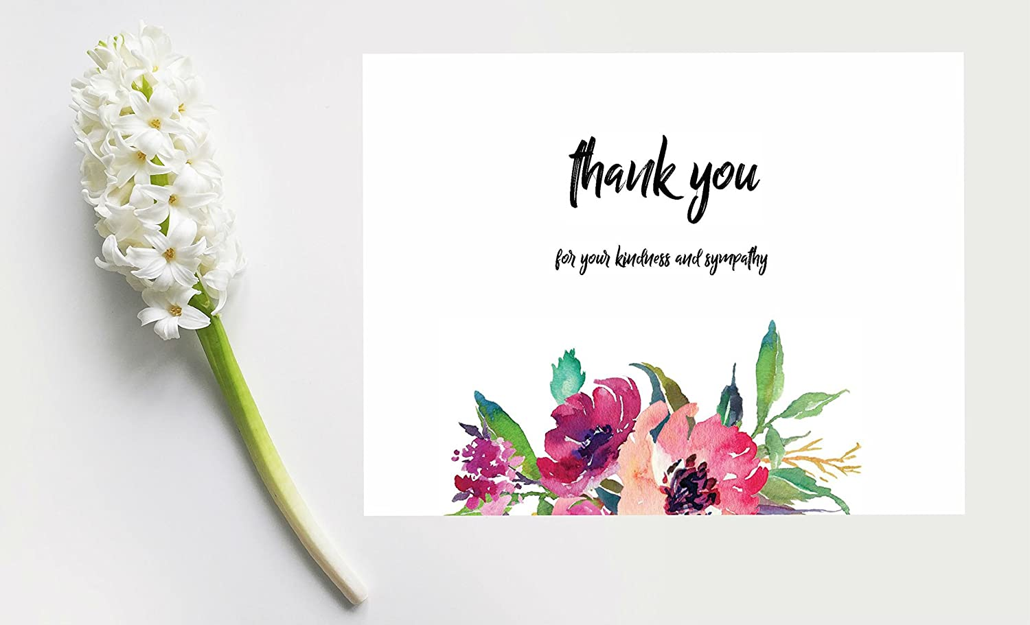 Amazon 20 flower funeral celebration of life thank you cards amazon 20 flower funeral celebration of life thank you cards with envelopes sympathy floral thank you cards office products izmirmasajfo