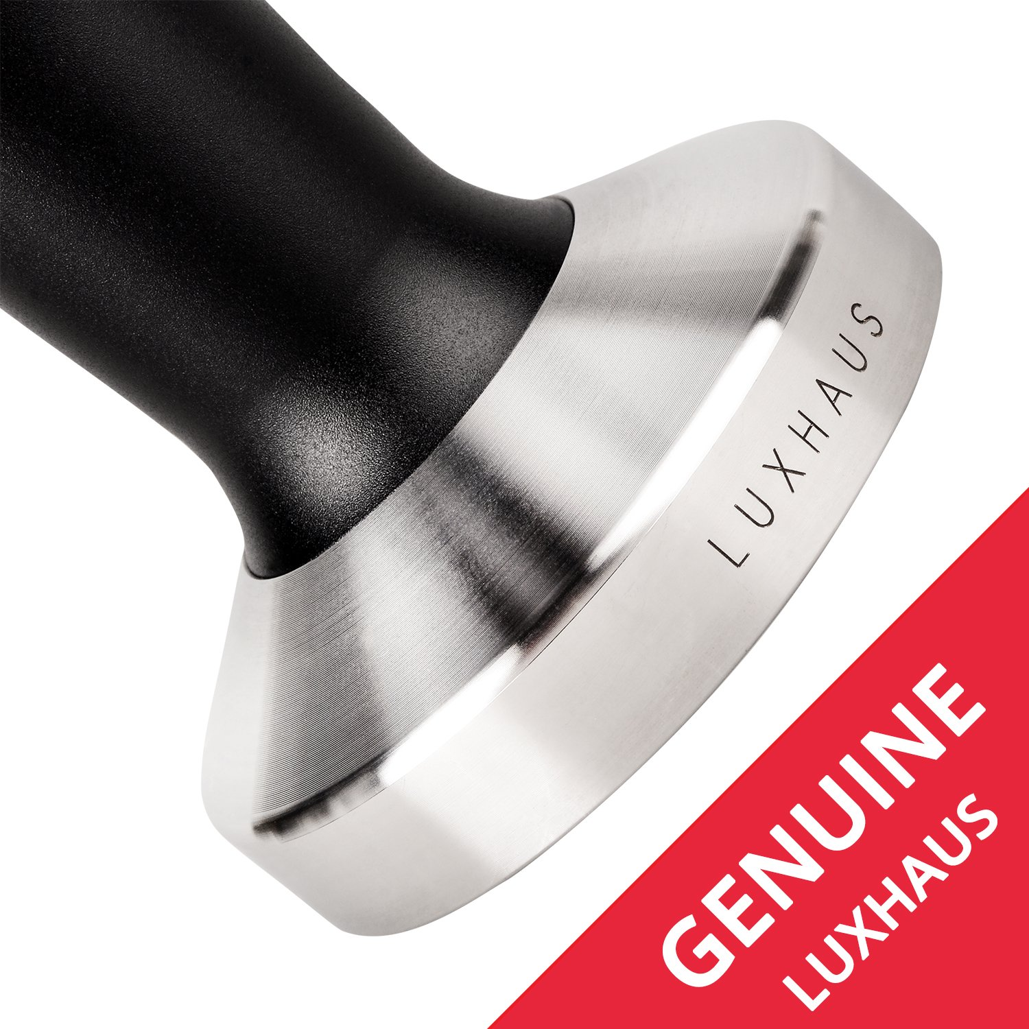 LuxHaus 58mm Espresso Tamper - Premium Barista Coffee Tamper with 100% Flat Stainless Steel Base by LuxHaus (Image #6)