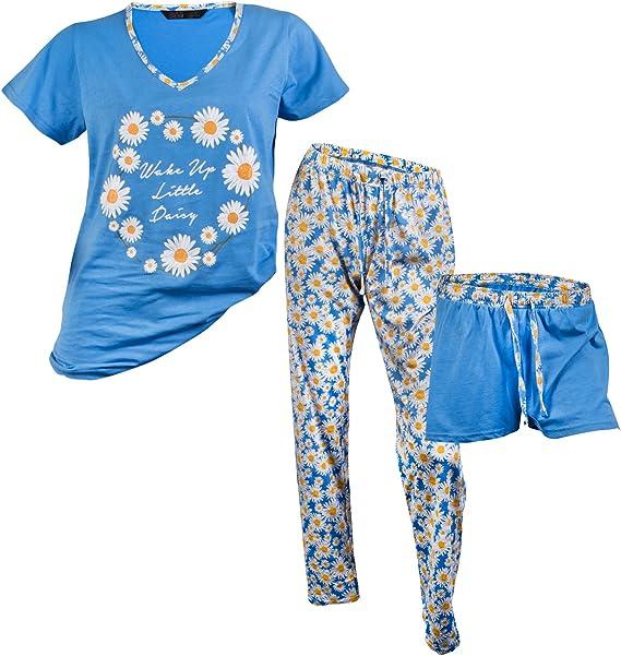 Ladies Short Sleeveles Top /& Shorts Pyjama Set 8•10•12•14•16