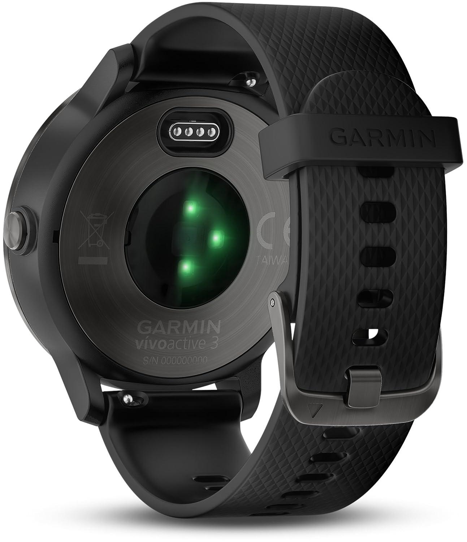 Garmin Vivoactive 3 Smartwatch con GPS y pulso en la muñeca, Negro (Gunmetal), ML
