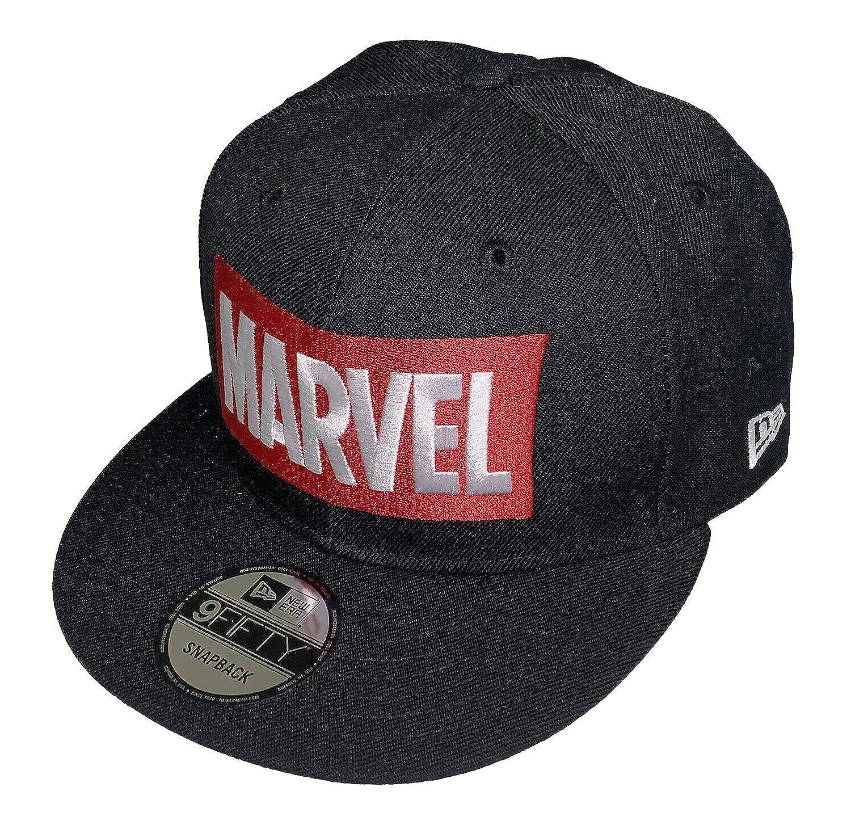 5cd4a9868 Marvel Comics Logo New Era 9Fifty Black Snapback Cap Hat