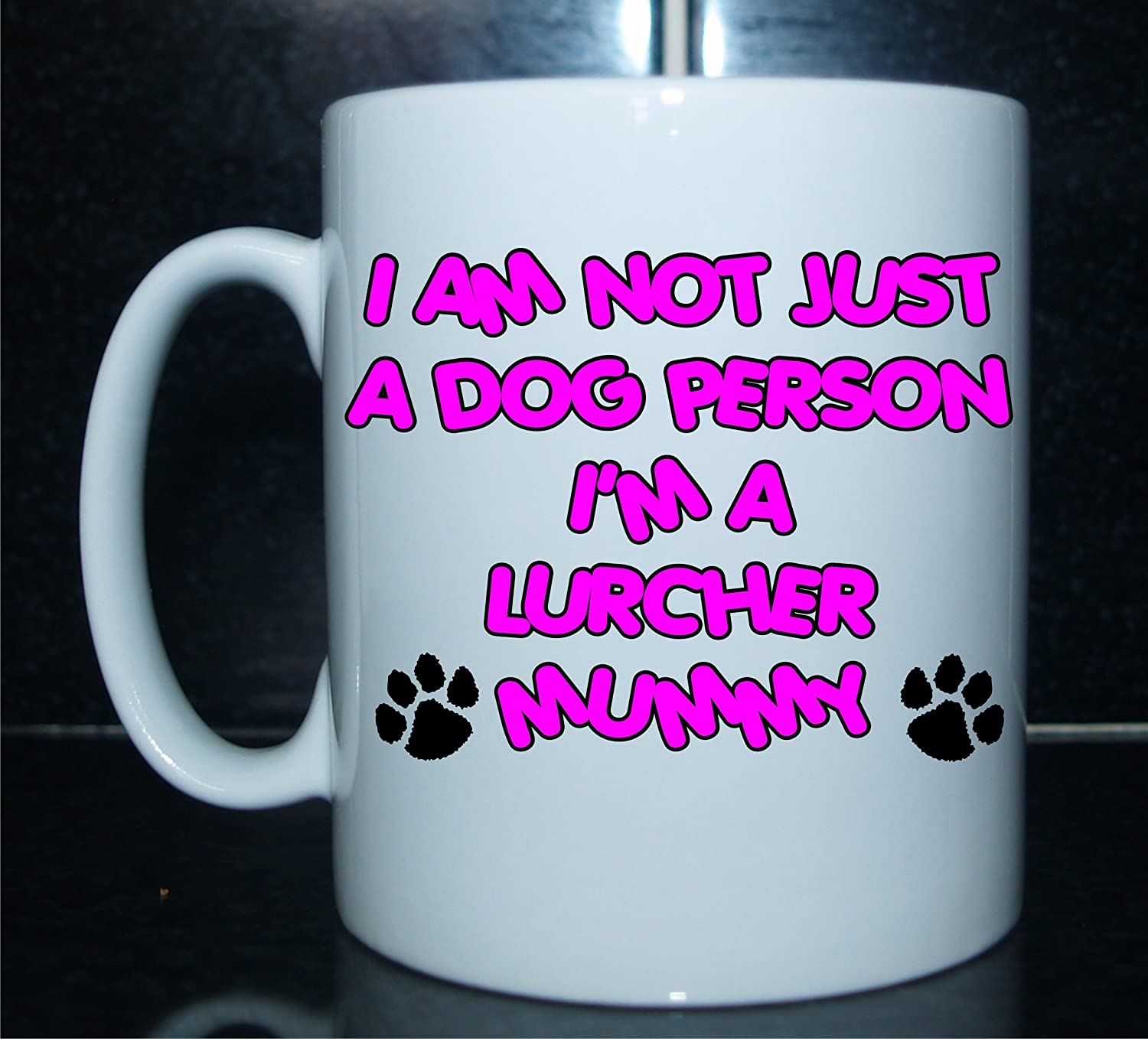 I'm NOT JUST A Dog Person I'm A Lurcher Mummy – Mug and Coaster Gift Set Ideal for Dog Owners Decalarama