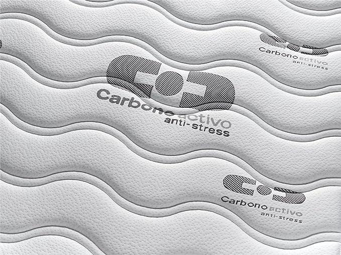 ... para cama de 135x190cm. Reversible con malla transpirable 3D y tejido carbono. Gran comodidad. Firmeza: intermedia-alta: Amazon.es: Hogar