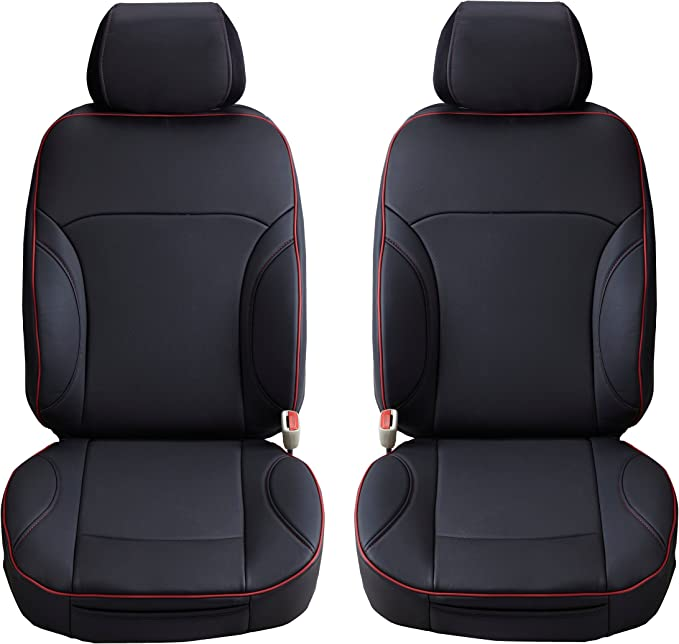Aegis cover PVCSTEEL Gray Semi Custom PVC Leather Cover A Pair for Toyota Highlander Second Generation Front Seats