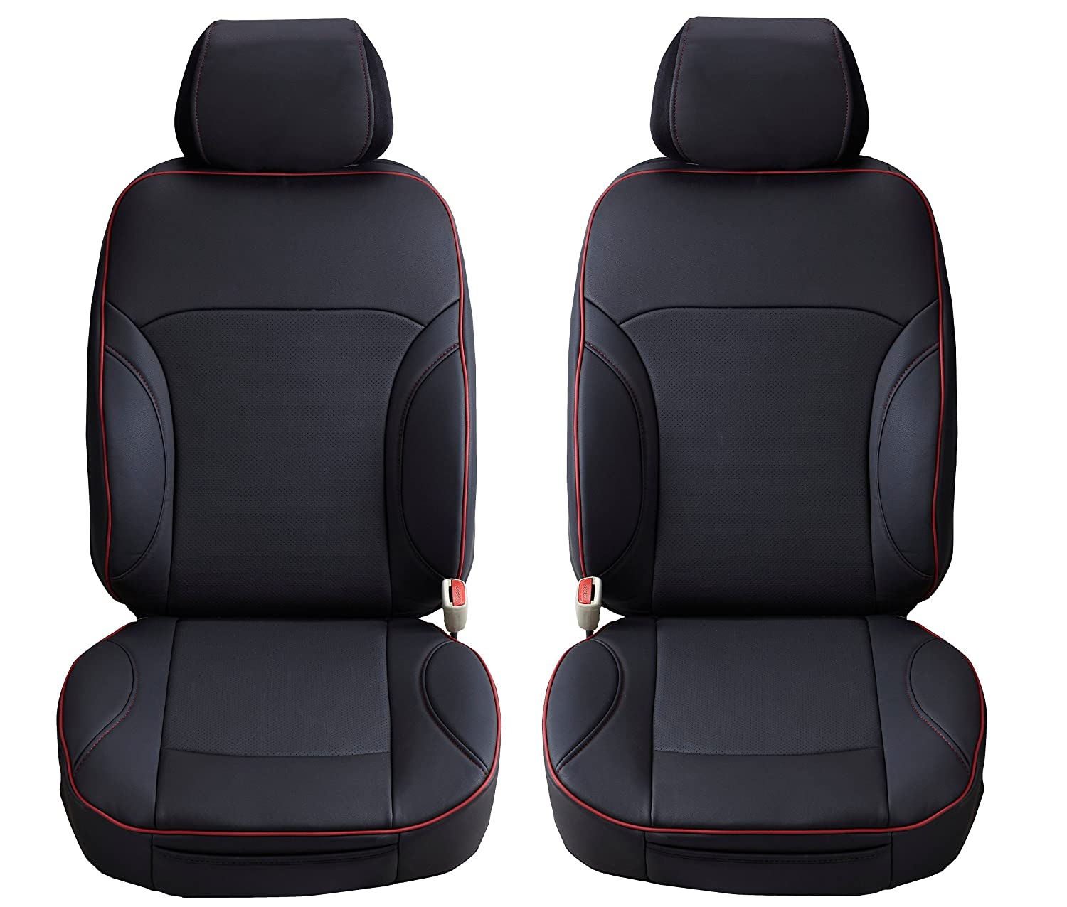 Aegis Cover SPVHA01 Semi Custom PVC Leather Seat Cover A Pair For Honda Accord Front Seats 2 Pack