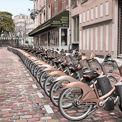 "Paris City Ride #2 by Alan Blaustein - 18"" x 18"" Giclee Canvas"
