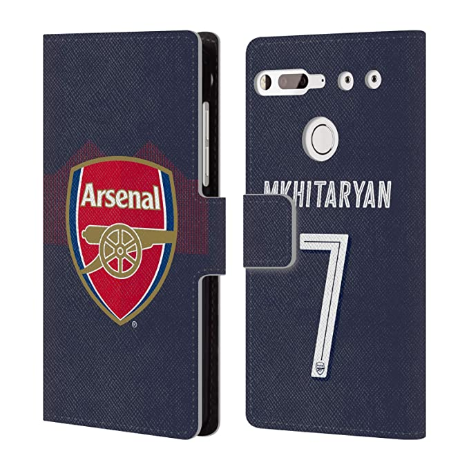 db828475d Image Unavailable. Image not available for. Color  Official Arsenal FC  Henrikh Mkhitaryan 2018 19 Players Away Kit Group 1 Leather Book Wallet