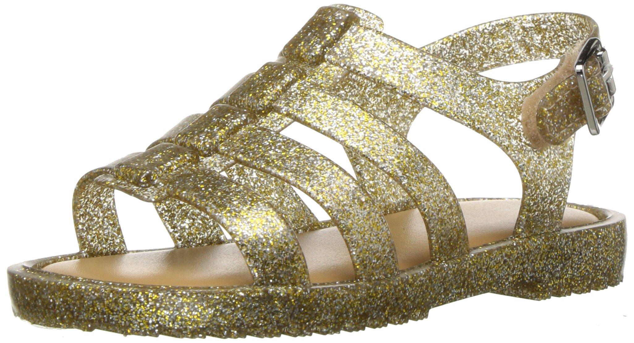 Mini Melissa Girls' Mini Flox Sandal, Gold/Spark, 10 Regular US Toddler by Mini Melissa