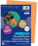 "Pacon SunWorks Construction Paper, 9"" x 12"", 50-Count, Yellow Orange (8503)"