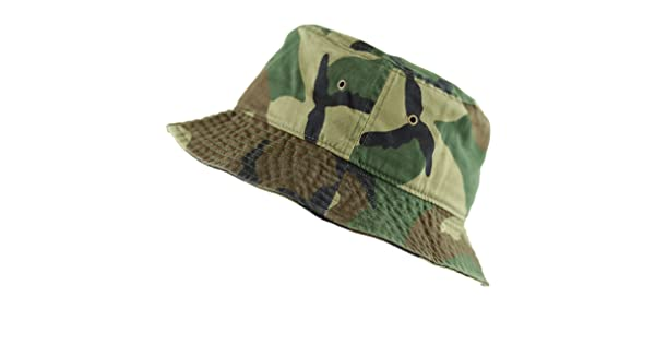 81ac8581fd4 THE HAT DEPOT 300N Unisex 100% Cotton Packable Summer Travel Bucket Hat  (L XL