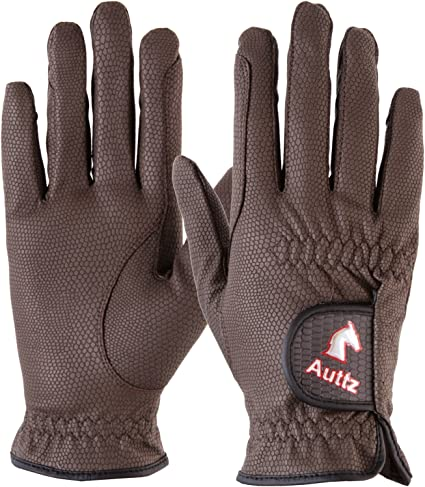 Auttz Equestrian Horse Riding Gloves Synthetic Leather BumYang
