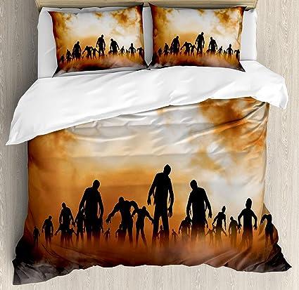 Amazon Com Usophia Halloween 4 Pieces Bed Sheets Set Twin Size