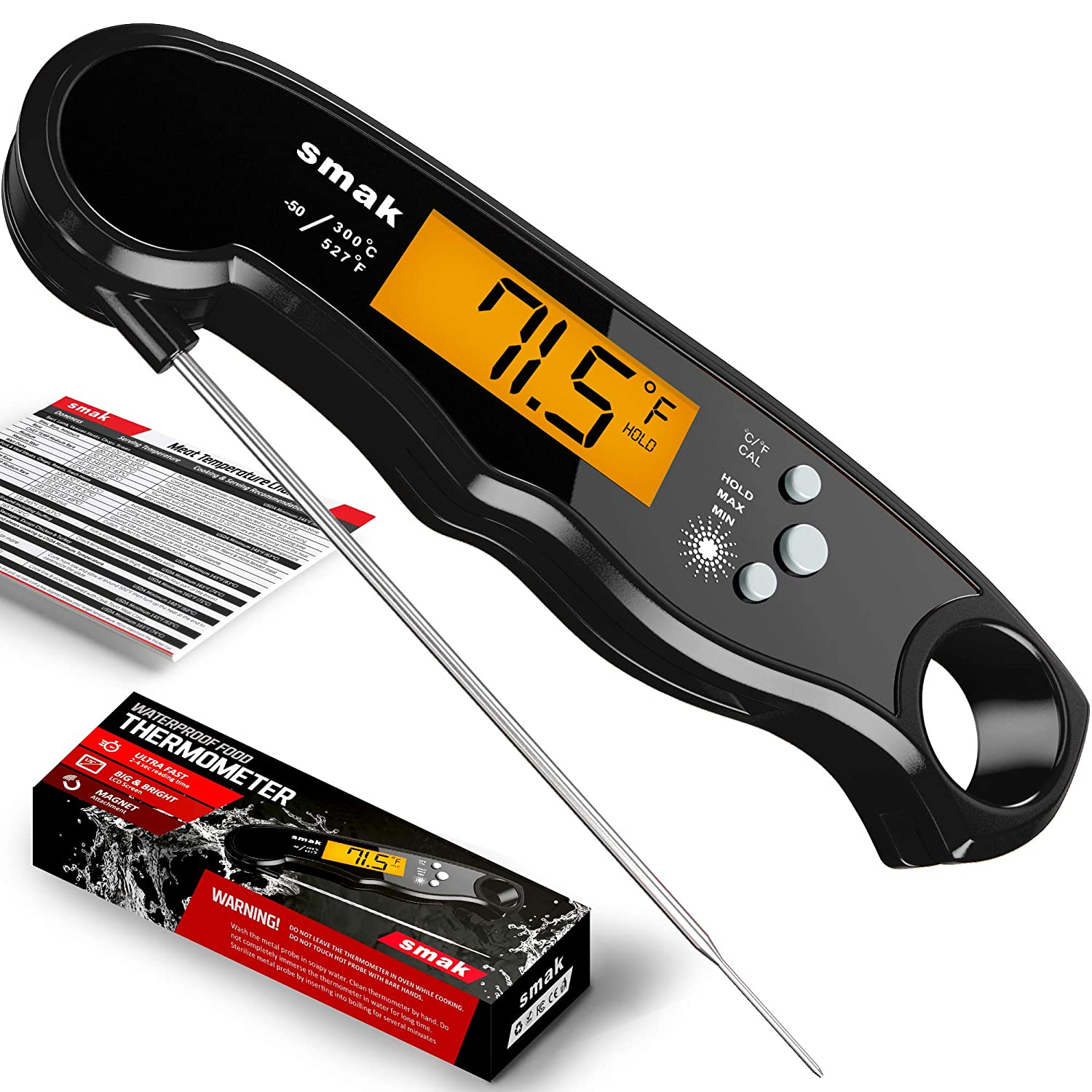 Wireless LCD Remote Thermometer For BBQ Grill Meat Kitchen Oven Food Cook#OZZ