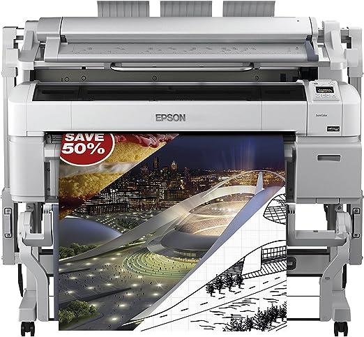 Epson SureColor SC-T5200 MFP HDD - Impresora de Gran Formato (2880 x 1440 dpi, ESC/P-R,HP-GL/2,Postscript 3, Cian, Magenta, Negro Mate, Foto Negro, Amarillo, A0 (841 x 1189 mm), 0.08-1.5 mm, 3 mm):