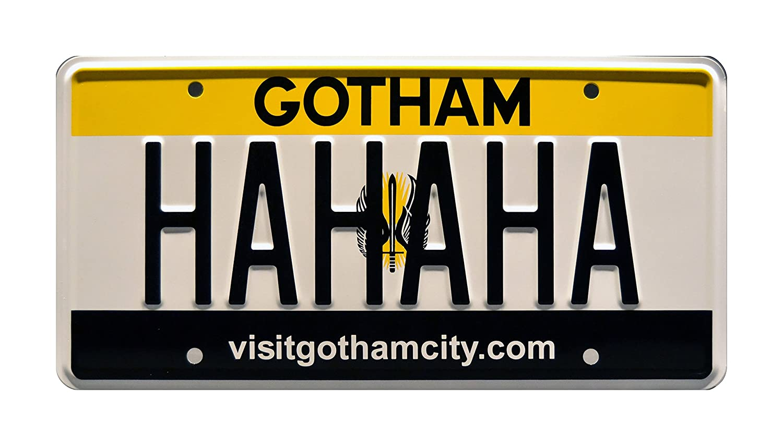 Celebrity Machines Suicide Squad Joker Gotham City | Hahaha Harley Quinn Batman Metal Stamped Vanity Prop Targa