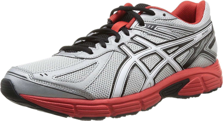 Asics Patriot 7 - Zapatillas de running para hombre, color Silver/Wht/Red, talla 40, Gris (Silver/White/Red 9301), 40: Amazon.es: Zapatos y complementos