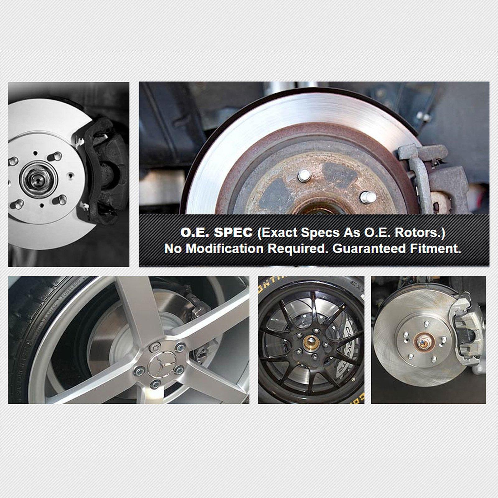 Fit 2011 Chevrolet Cruze Front PSport Black Drill Slot Brake Rotors+Ceramic Pads