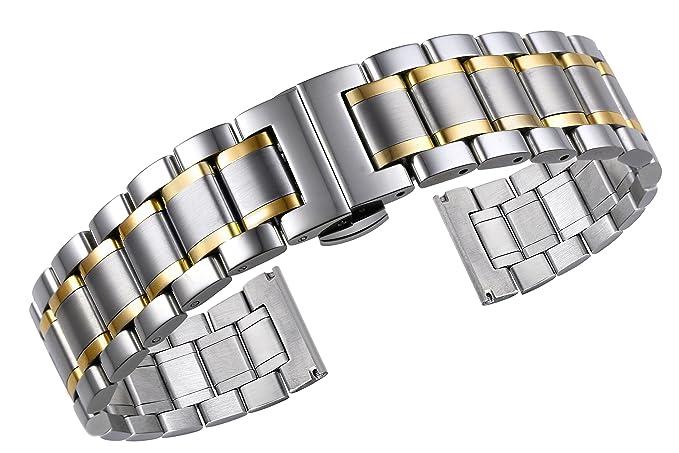 3 opinioni per 18mm di fascia alta in stile Oyster 316L due tono argento e acciaio inox oro