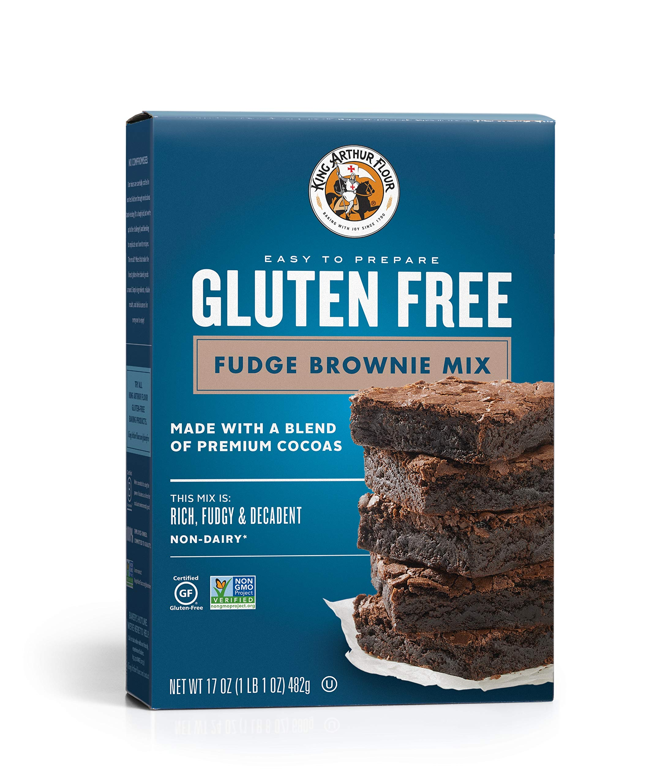 KING ARTHUR FLOUR, Fudge Brownie Mix, Gluten Free, 17 Ounce (Pack of 6) by King Arthur Flour
