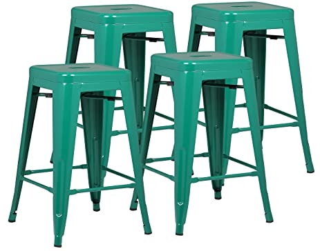 Poly And Bark Trattoria 24u0026quot; Counter Height Stool In Dark Green ...