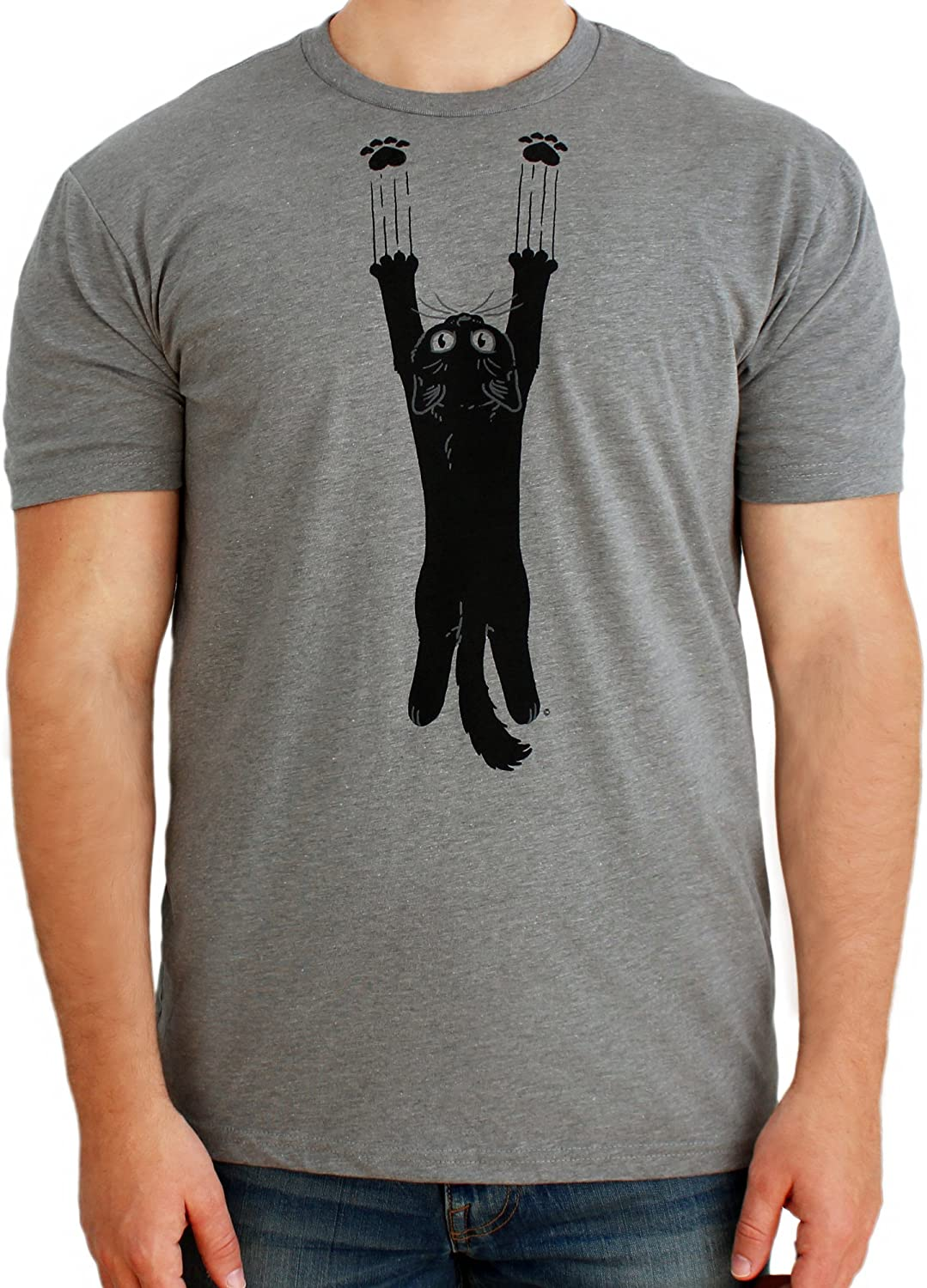 Paw Addict Funny Cat Shirt Black Cute Kitty Laughing Game Cat T-Shirt Unisex Novelty Tee for Men & Women