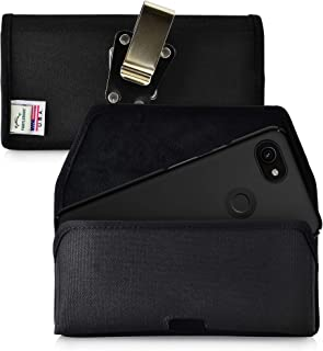 product image for Turtleback Belt Clip Case Designed for Google Pixel 3 XL and Pixel 3A XL (2019) Belt Holster Black Nylon Pouch with Heavy Duty Rotating Belt Clip, Horizontal Made in USA