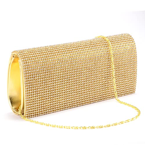 Cartera de Mano Bolso de Fiesta Boda para Mujer Bolsa Satén Con los brillante diamantes plástica Color Plateado: Amazon.es: Zapatos y complementos