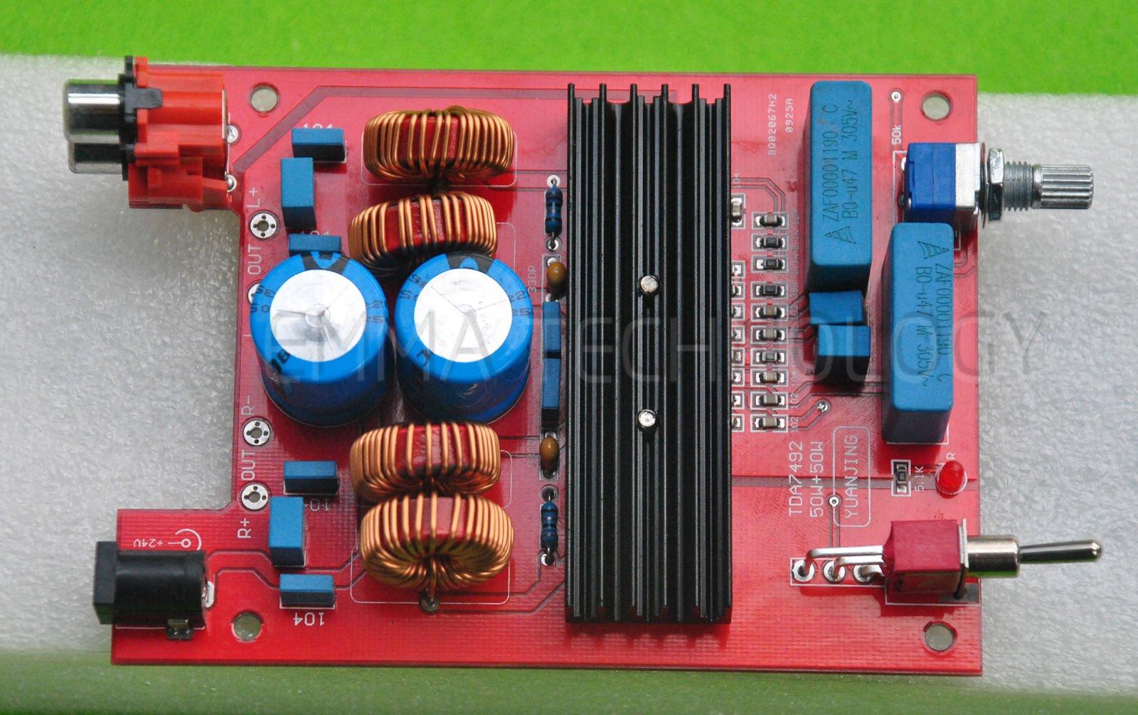Finished Tda7492 Power Amplifier Board 50w+50w Dc20v to Dc24v 5a