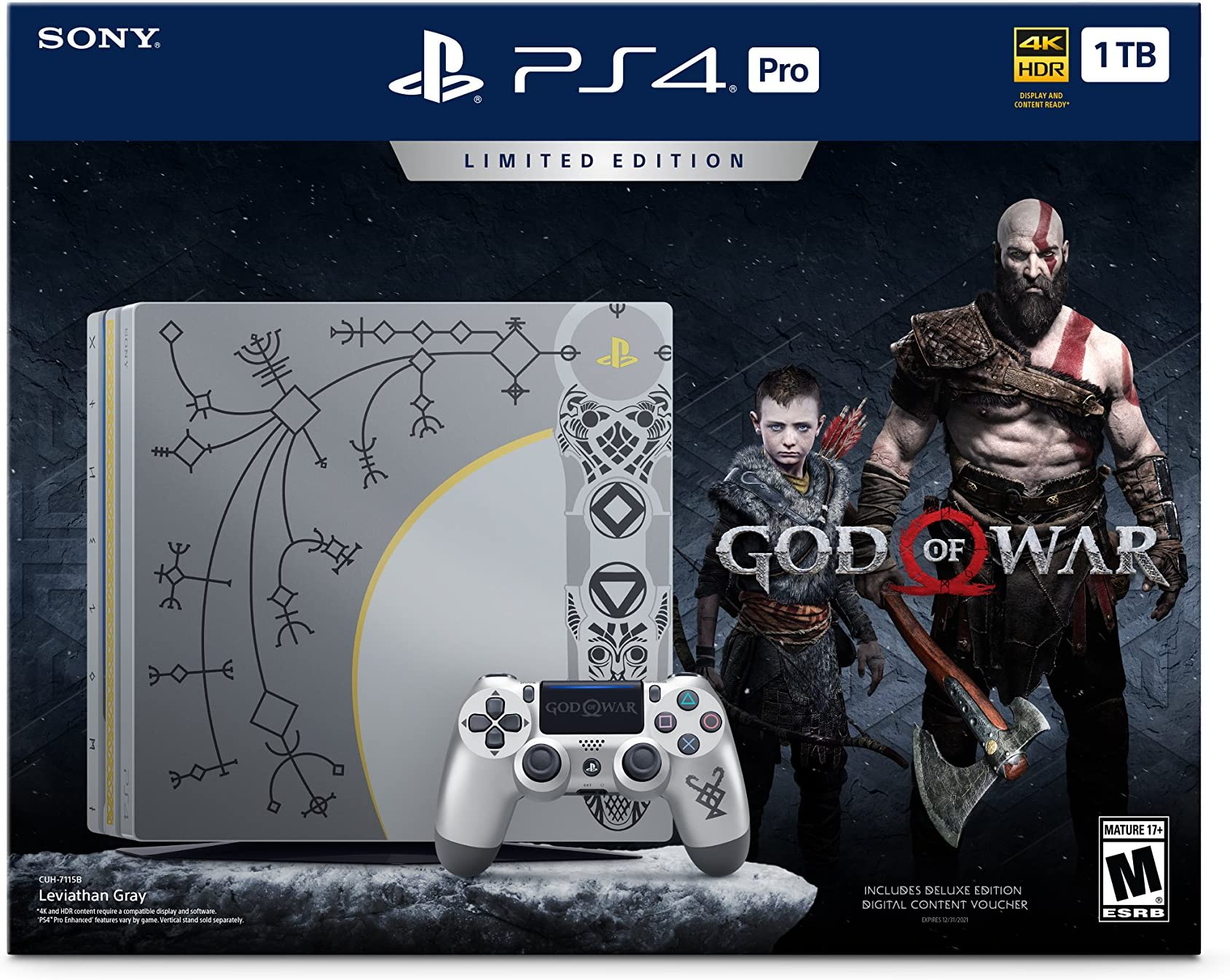 Amazon com: PlayStation 4 Pro 1TB Limited Edition Console - God of