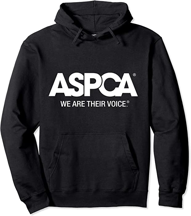 e743ccd051 Amazon.com  Unisex ASPCA We Are Their Voice Logo Hoodie 2XL Black ...