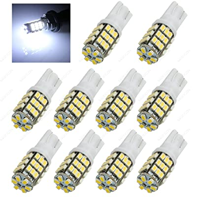 SAWE - 42-SMD T10 168 12V LED Replacement Light Bulbs T15 921 912 906 LED (10 pieces) (White): Automotive