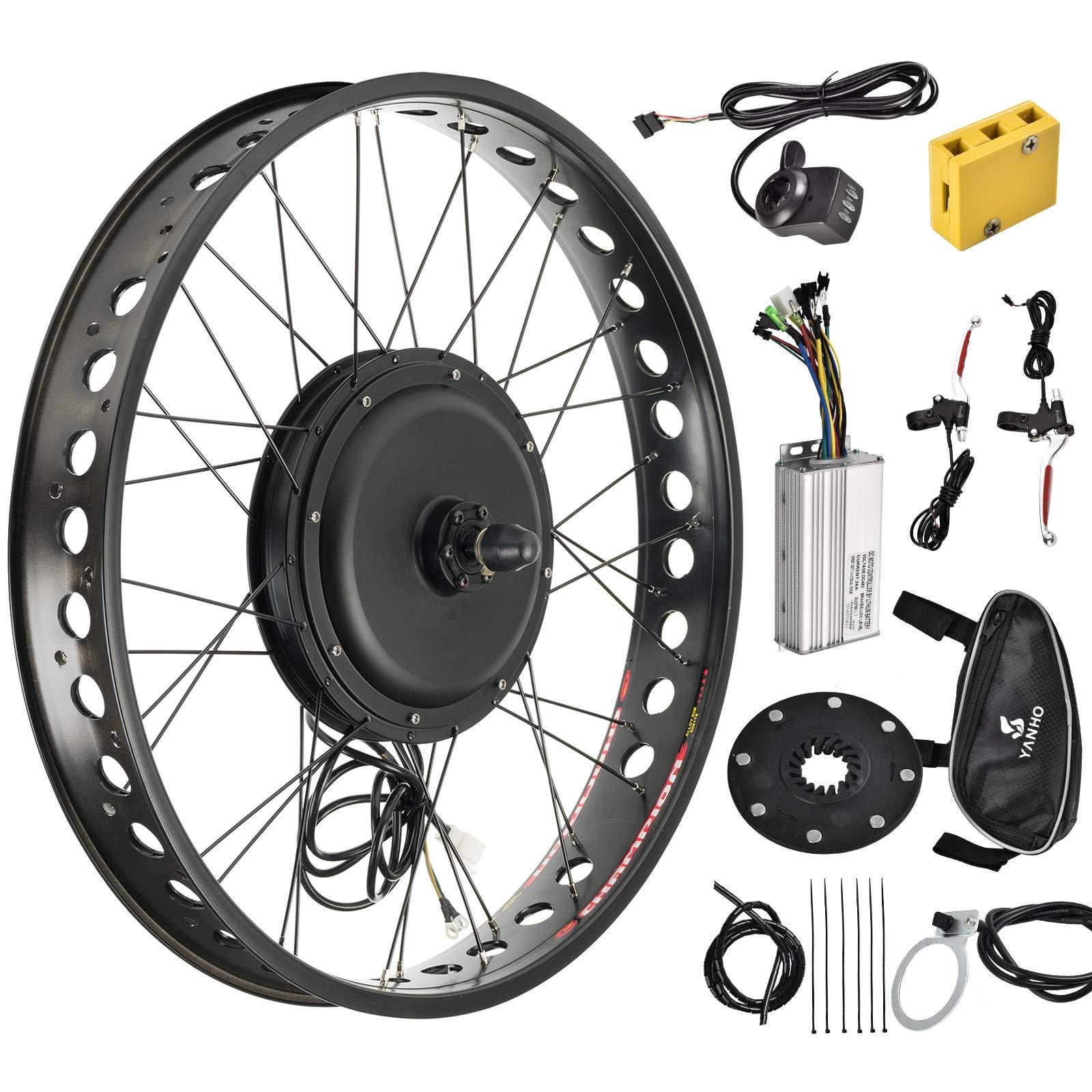 Murtisol Electric E-Bike Motor Kit 26'' Fat Tire Front Wheel 48V 1000W Bicycle Motor Conversion Kit