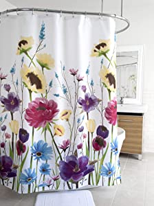 Splash Home 71PRISM/FPBRTSPL Prisma Polyester Fabric Shower Curtain, 70