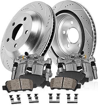 Ceramic Pads for 2006 2007 2008 2009-2015 Infiniti G35 M35 Front Brake Rotors