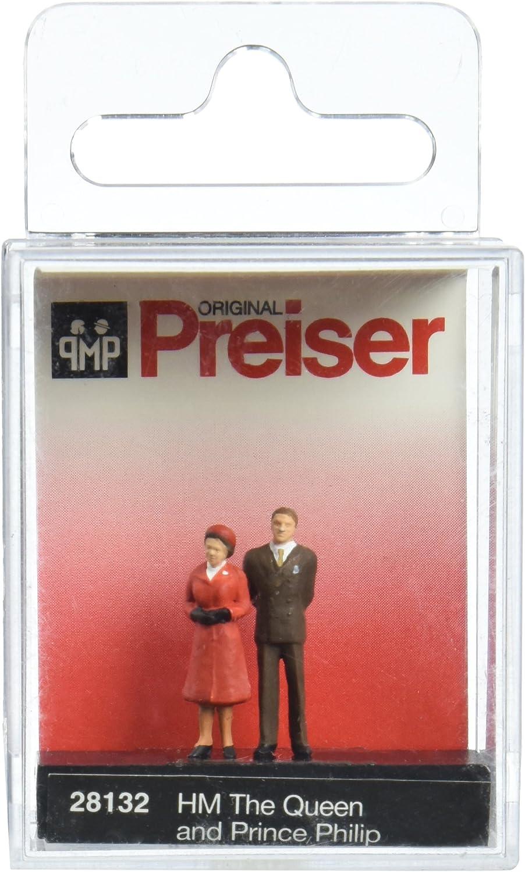 Preiser 28132 Historic People HM The Queen /& Prince Philip HO Model Figure
