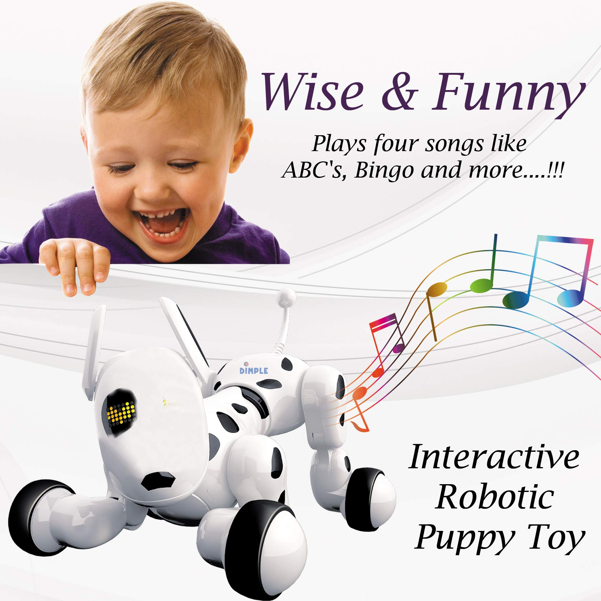 Dimple Interactive Robot Puppy With Wireless Remote Control RC Animal Dog Toy That Sings, Dances, Eye Mode, Speaks for Boys/Girls, Perfect Gift for Kids. by Dimple (Image #6)