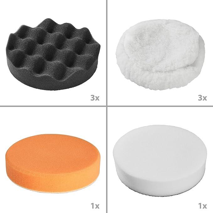 Tectake 13 Teiliges Polierschwamm Polierset Für Poliermaschine Baumarkt