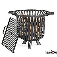Verona CookKing Feuerkorb XL schwarz ✔ rund ✔ tragbar