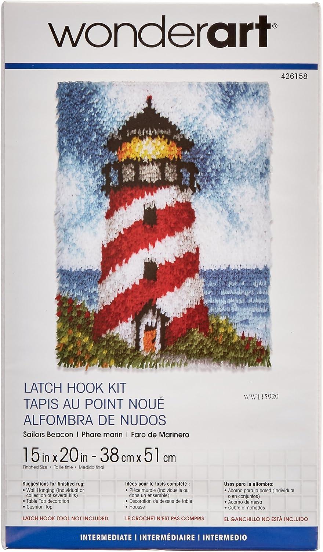 15 X 20 Wonderart Eiffel Tower Latch Hook Kit Latch Hook Kits