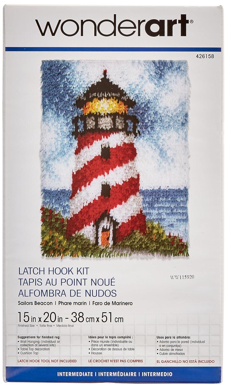 Wonderart Cozy Cabin Latch Hook Kit 15 x 20