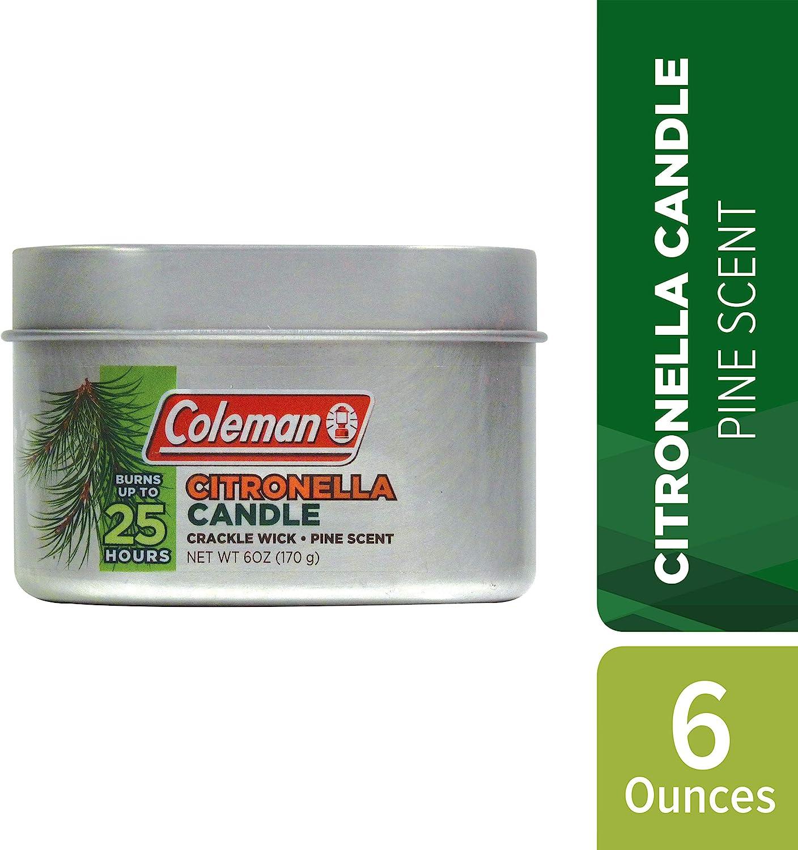 Bougie PIN parfum 25 H Camping Coleman Citronnelle Tin 6 oz environ 170.09 g