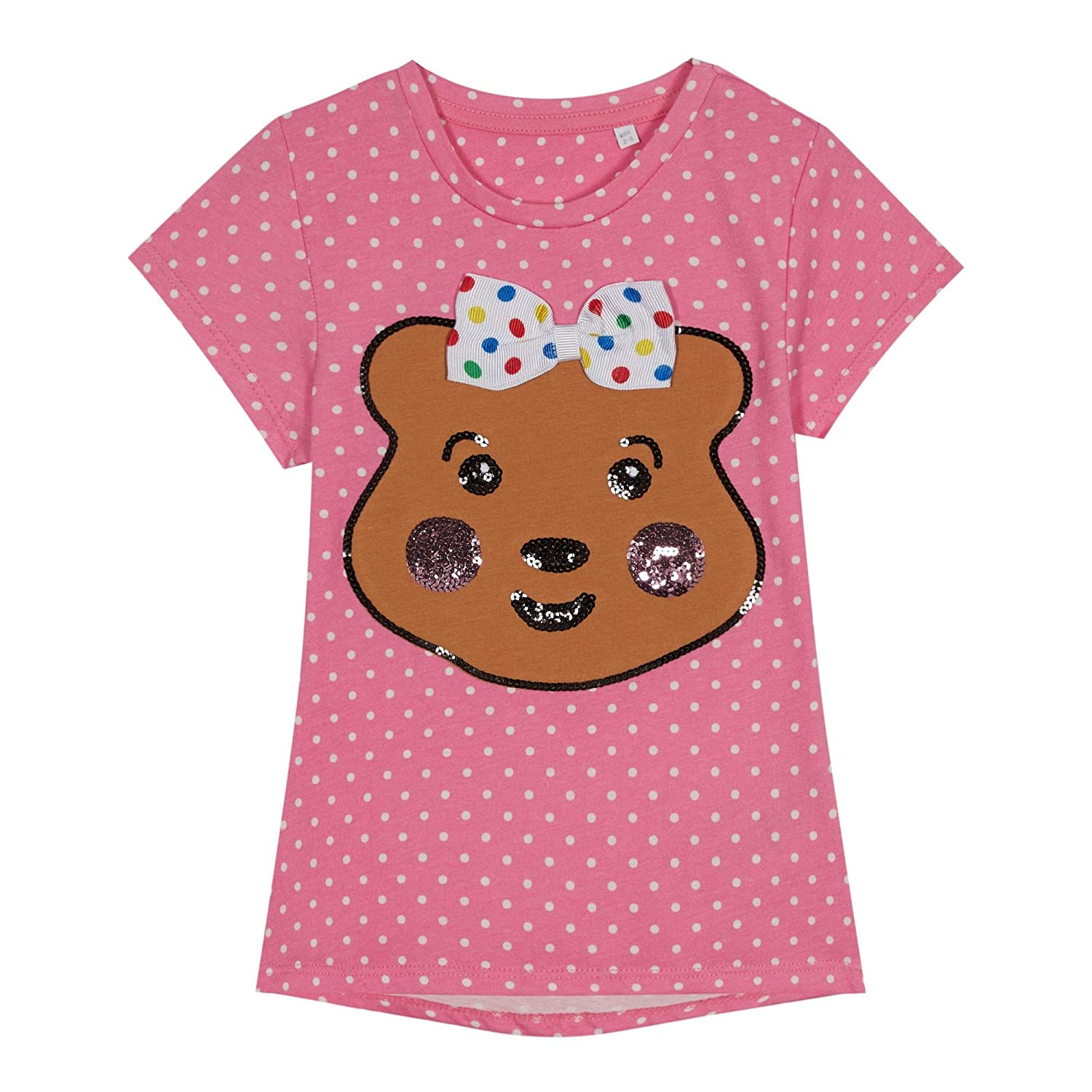 BBC Children In Need Kids Kids' Pink Pudsey Print T-Shirt