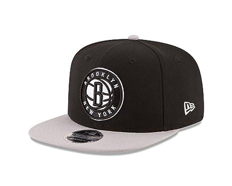 016a78e7f NBA Brooklyn Nets Men's 9Fifty Original Fit 2Tone Snapback Cap, One Size,  Black