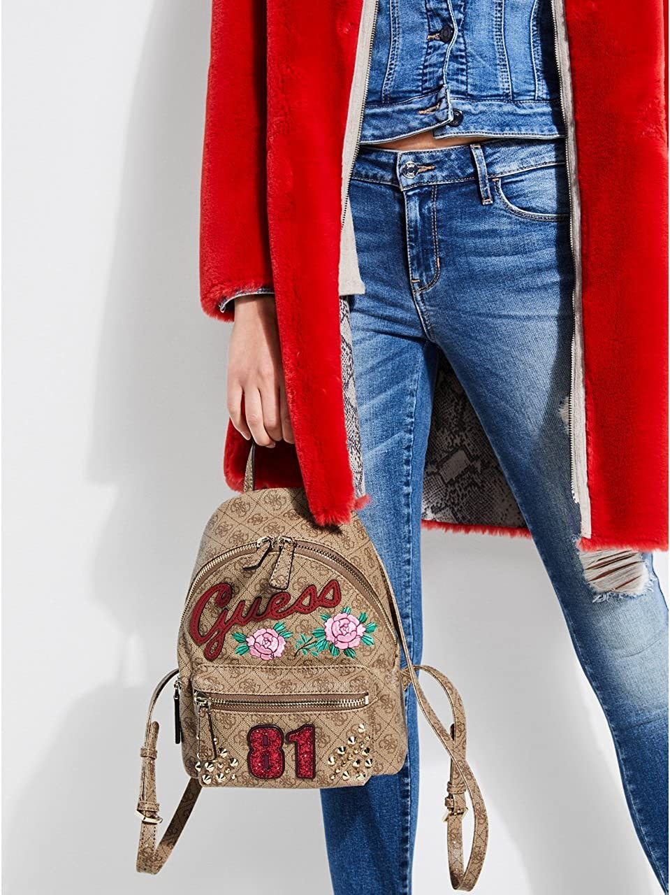 Guess Borsa Donna Urban Sport Small Backpack Brown