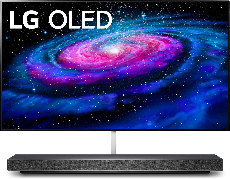 Amazon Com Lg Oled65wxpua Alexa Builtin Wx 65inch Wallpaper Design 4k Smart Oled Tv 2020 Electronics