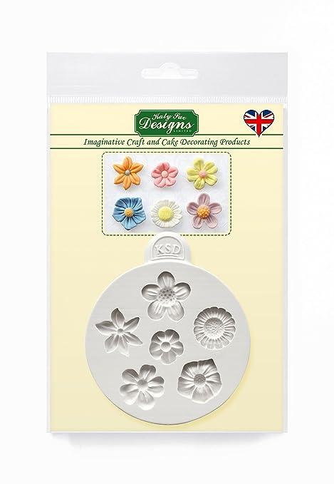 Flores – Katy Sue Designs molde de silicona para decoración de dulces Cupcakes Sugarcraft y caramelos