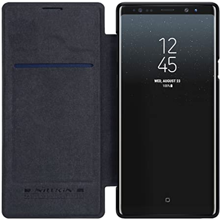 cheap for discount 6bdd1 6be05 BCIT Samsung Galaxy Note 9 Flip Up Case - Premium PU Leather Flip Cover,  Slim Leather Shell Smart Cover for Samsung Galaxy Note 9 - black